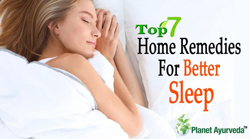 Top 7 Home Remedies to Help You Sleep Better