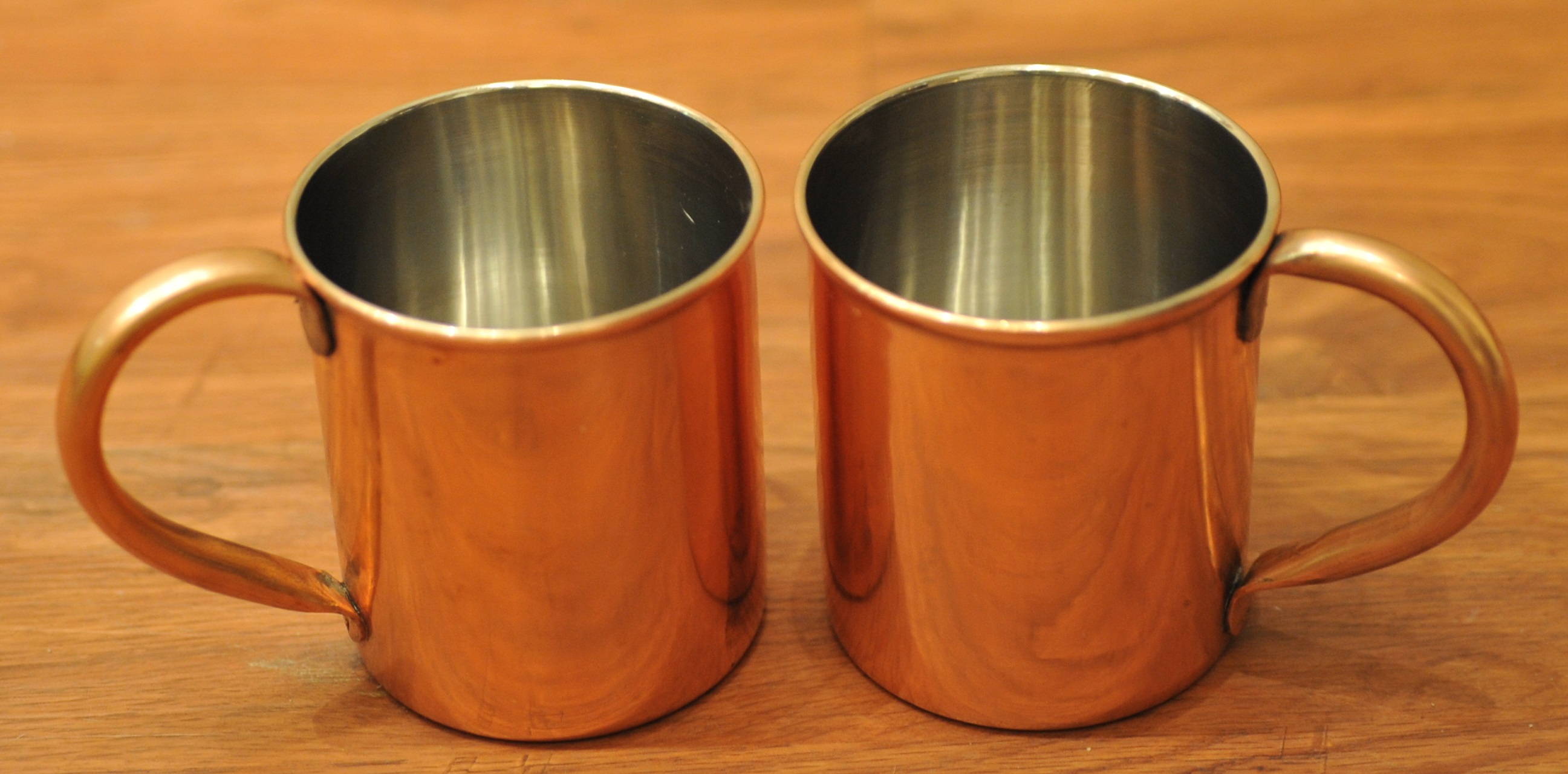 Drink Water in a Cup made of Copper Metal